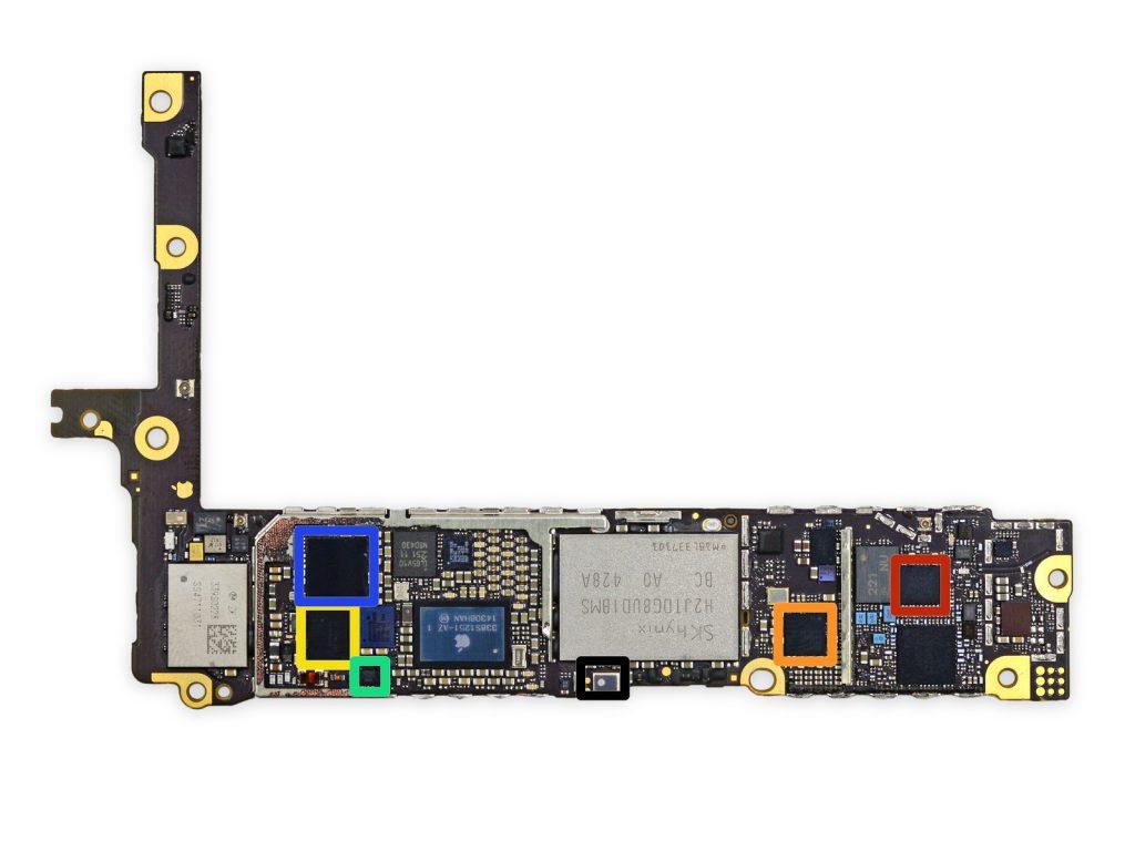 bga ремонт микросхем платы iPhone 6 plus