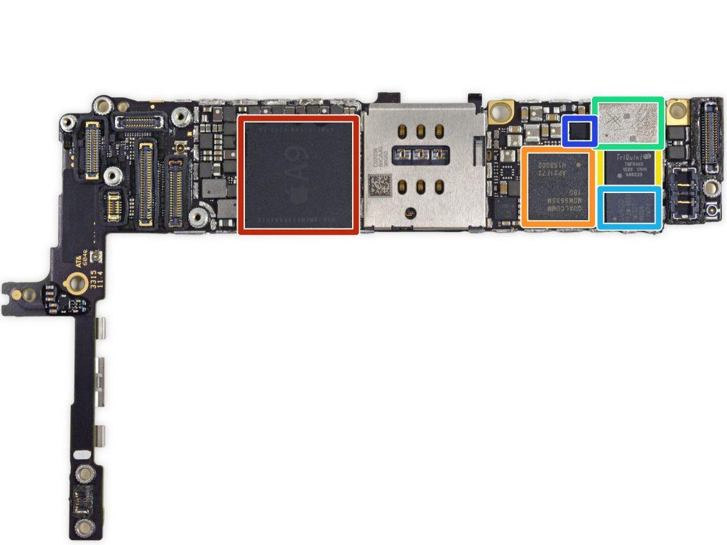 сложный ремонт bga материнских плат iPhone 6s