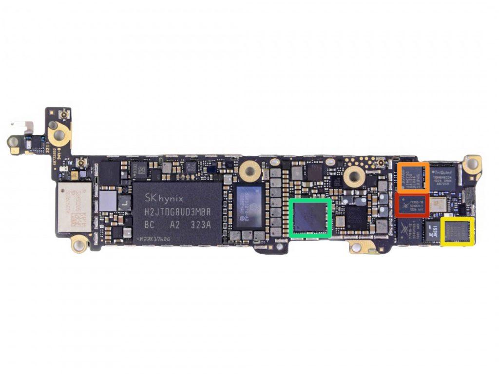 BGA ремонт микросхем материнских плат iPhone 5s